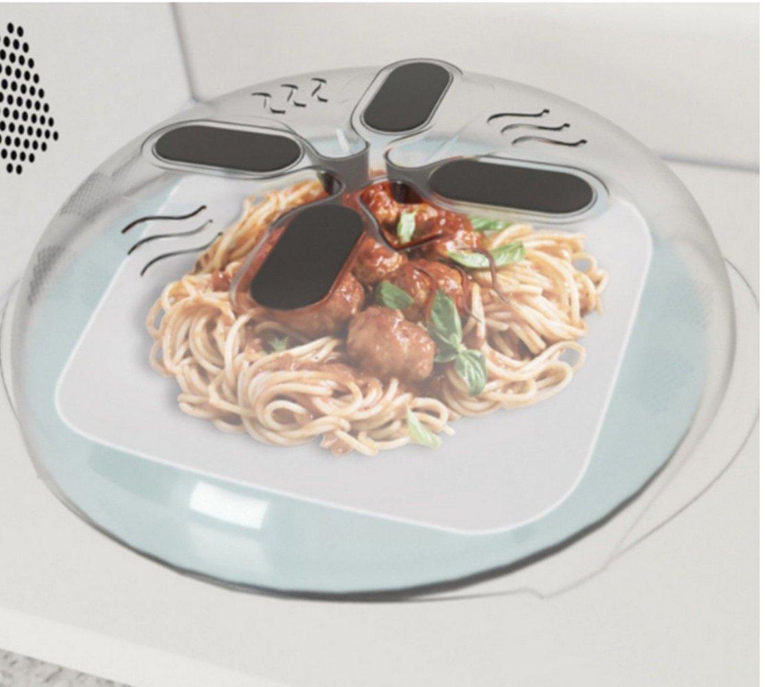 Autrix Microwave Splatter Cover Food Splatter Guard, 11.8 inches