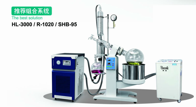 Matching equipment ! HL-3000 Refrigeration capacity recyclable coolers+ 20L rotary evaporator