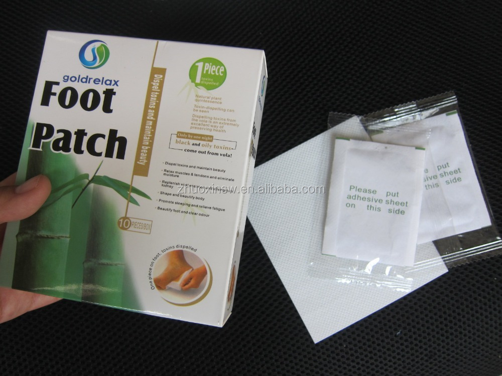 Our own brand---Goldrelax detox foot patch as <strong>health</strong> care product