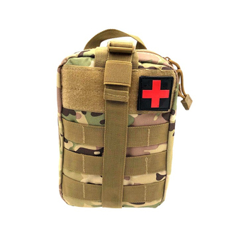 Tactical Molle First Aid EMT Pouch with buckle magic tape attachment