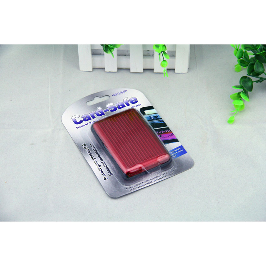 Promotional multi-color aluminum wallet card holder