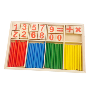Wooden math toys for kids,Digital learning stick math toys set,Best sale wooden learning math toys set