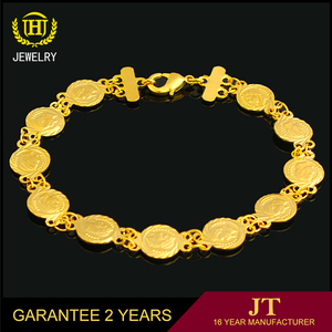 Free Shipping 2017 Wholesale 18K Gold Bracelet, Natural fashion jewelry chain