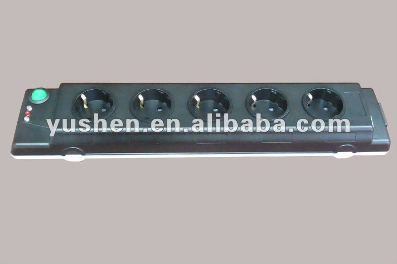 German/Dutch surge protected power strip