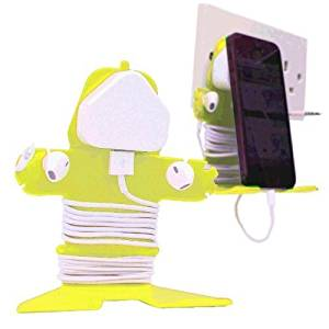 Mi Cable Tidy Yellow - Cable Organizer and Stand for iPhone, Cellphone, Smartphone, Nintendo DS, Sony PSP and Mobile Phone Devices