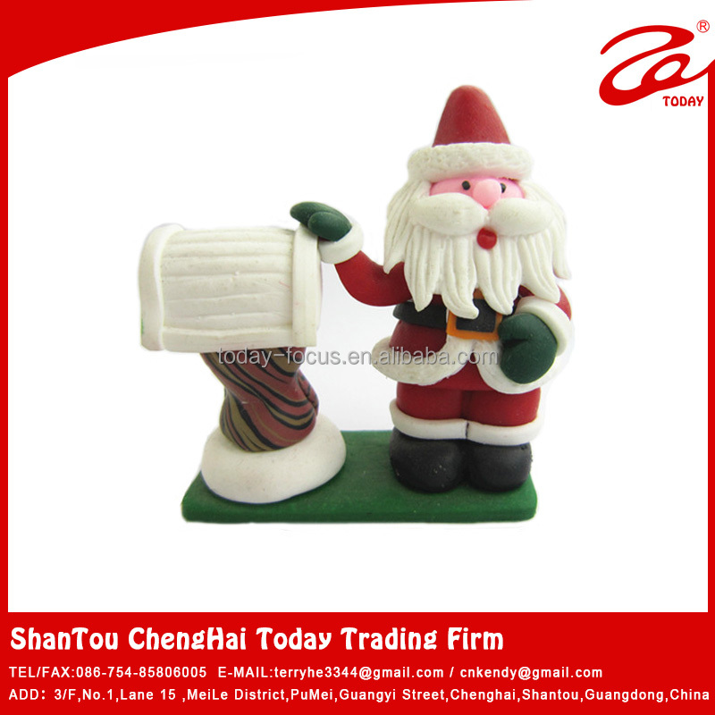 christmas santa claus polymer clay molds