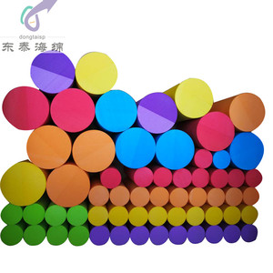 Custom high density EVA foam cylinder and EPE foam tube for packing material
