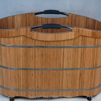 Hot Sale High Quality Custom Made Portable Wooden Bathtub
