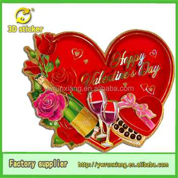 Chinese Wholesale 3d Glitter Paper Heart Shaped Happy Valentine's ...