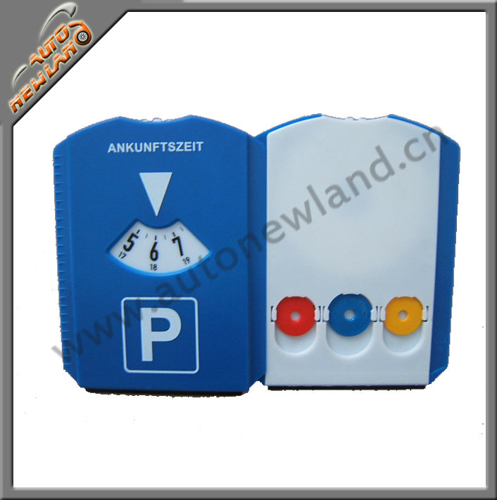 Euro Auto Plastic Parking Disc with clock