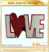 valentine day theme picture frame mdf resin love photo frame