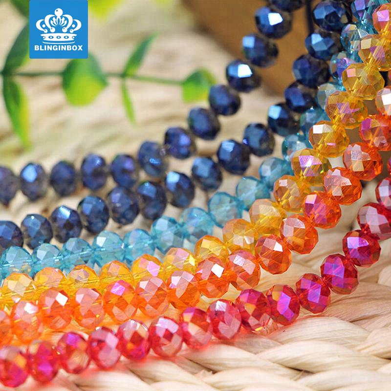 مصنع الجملة عالية الجودة زجاج كريستال الخرز rondelle 5040 # للمجوهرات