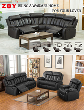 Home Leather Living Room Recliner Sofa Sets ZOY-9928A