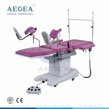AG-C203A stainless steel frame base hydraulic pump control hospital gynecology delivery operation table