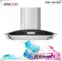 900mm push switch European style LED light good quality range hood kitchen cooker hood chimney hood