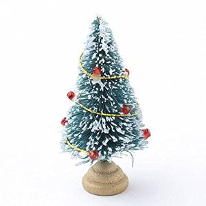 get quotations package of 4 holiday miniature decorated frosted sisal christmas trees for miniature displays