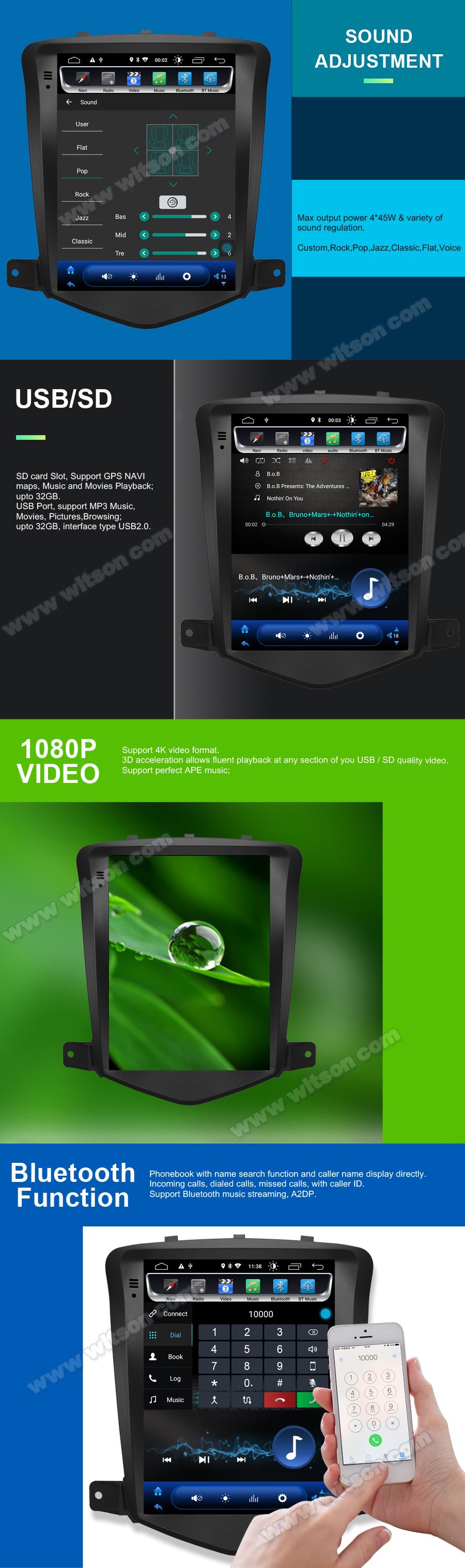 Witson Android 9.0 Mobil GPS Navigasi untuk Opel Insignia 2008-2011 4GB RAM 64GB Flash Layar Besar mobil Pemutar DVD