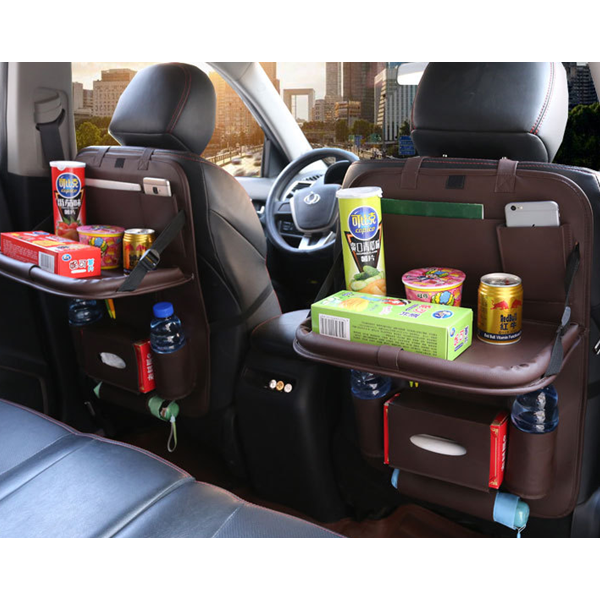 Folding Table Drink Food Back Seat Tray Car Organizer With Tray