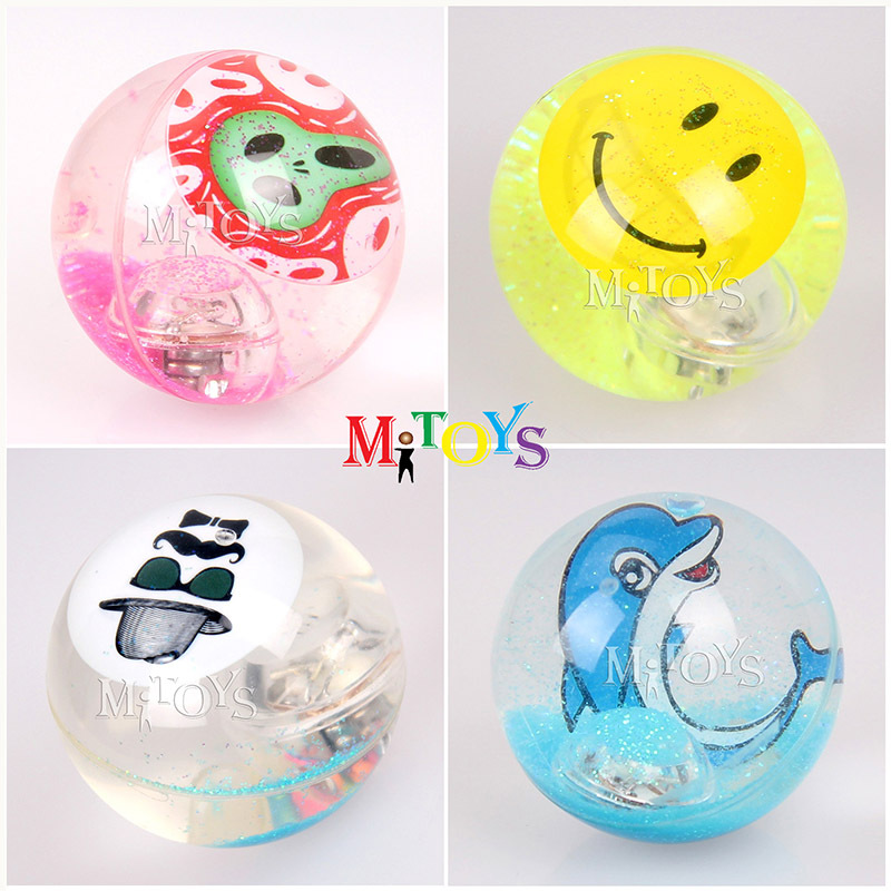2014 Hot Sale Flashing Toy Water Filled Balls Hi Bounce Crystal Ball