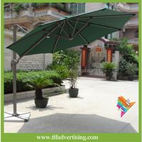 3m Garden Parasol Sun Shade Patio Banana Hanging Rattan Set Cantilever Umbrella