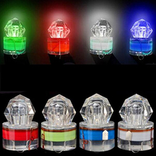 Deep Drop Underwater LED Diamond Fishing Light Strobe Bait Lure Squid Light