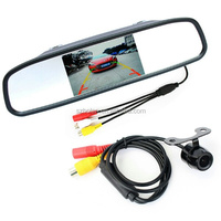 Car Rear View Mirror Monitor with Waterproof HD Back up Camera