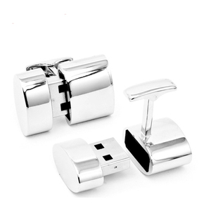 Mini USB Stick Metal Cufflink Shape USB Flash Drive 8GB with Custom Logo