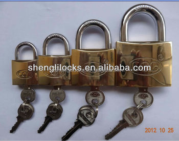 Shengli Factory Wholesale Cheap Iron Gold Plated Arc Type Paedlock ...