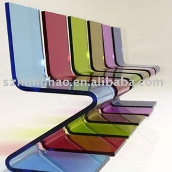 cheap acrylic furniture. Colored Acrylic Chairs / Hot Bending Cheap Z Shape Garden Furniture Dining I