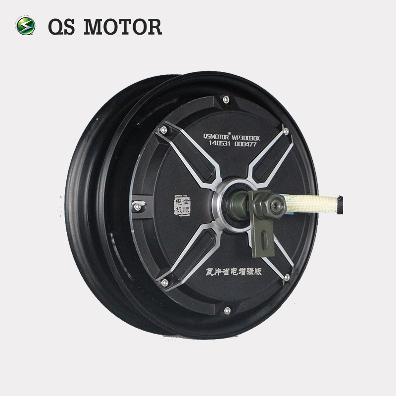Powerful motor QS 10inch 3000W 205 50H 72V E-Scooter Extra/V3 Type electric in wheel Hub Motor, Black