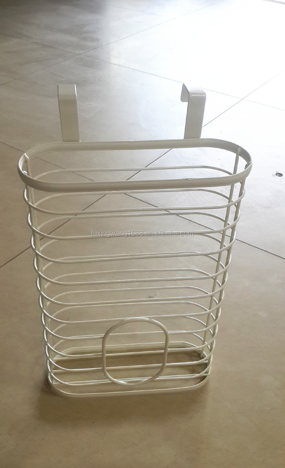 Over The Cabinet Basket Plastic Bag Holder Over The Cabinet Door Basket Bin Recycle Reuse