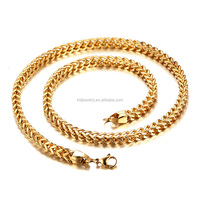 Stainless Steel 18K Gold Franco Chain Necklace Wholesale