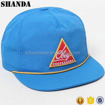 High quality unstructure wholesale custom blank nylon rope snapback cap hat 80fda709e66