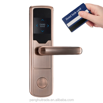 2017 Zinc Alloy Intelligent Hotel Card Door Lock Access Control