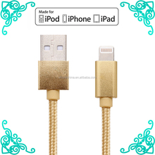 Support ios 10.3.2 Certified Cable For iPhone Apple Mobile Phone Charger 2017 Hotsale MFi USB Cable Metal Braided 1m 3ft Cords