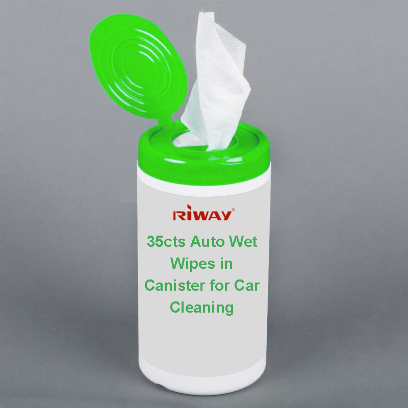 35cts Auto Wet Wipes in Canister for Car Cleaning