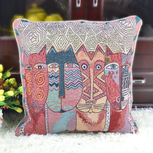 abstract art cat design tapestry cushion covers and pillow cases