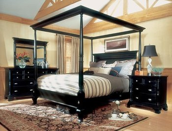 Magnussen Hastings King Size Four Poster Canopy Bed Set & Magnussen Hastings King Size Four Poster Canopy Bed Set - Buy ...