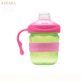 Factory supply cute design Silicone Bottle label Elastic Reusable Label bands for Drinking Bottle