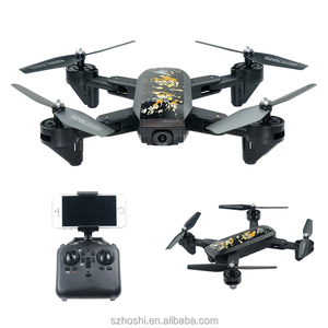 New arrival DM107S foldable drone FPV UAV rc drone with 720P 2MP wide angle HD wifi camera