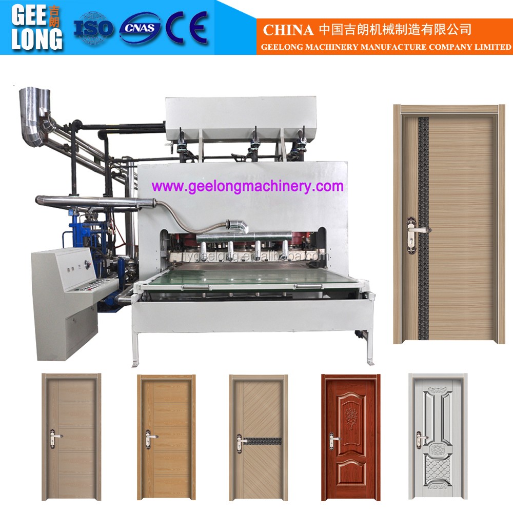 Laminate door skin press/door skin laminate press machine