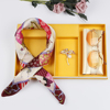 2019 happy mothers day new product ideas women executive gift set with silk scarf & brooch & sunglasses