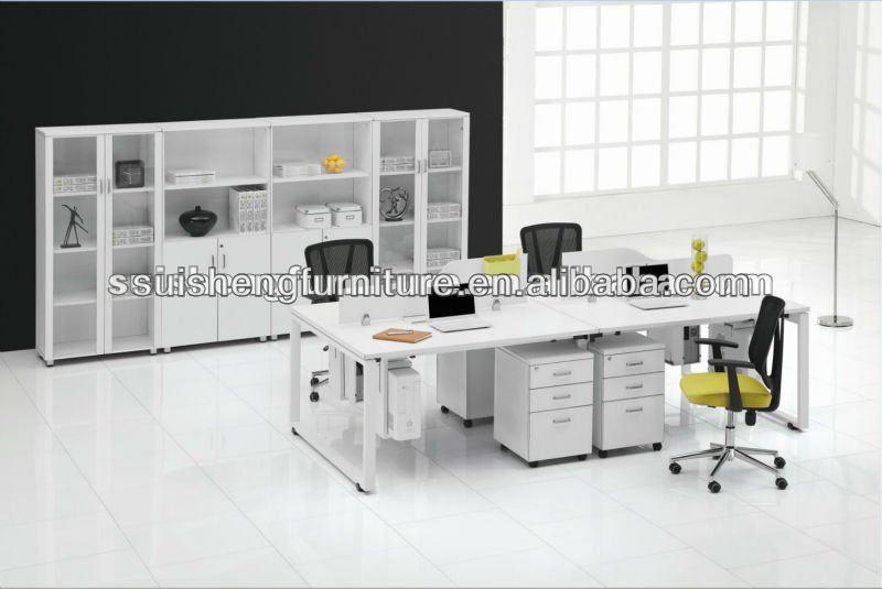 Hot verkauf neue design 4 personen wei b ro schreibtisch for Schreibtisch 4 personen