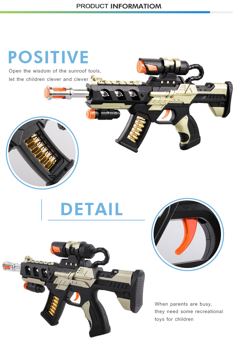 Fasion plastic flash music light kids imitation sniper rifle toy gun