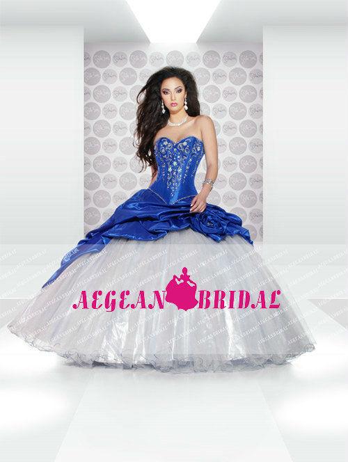 robes l gantes france robe mariage bleu et blanc. Black Bedroom Furniture Sets. Home Design Ideas