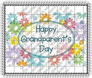 "2"" Round - Happy Grandparents Day - Edible Image Cake/Cupcake Party Topper!!!"