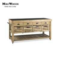 french antique style reclaimed wood marble kitchen island