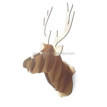 christmas moose head decoration cardboard paper wall hanger - Christmas Moose Home Decor