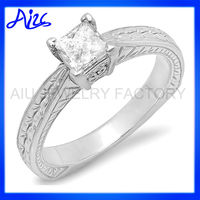 2 Karat Cushion Cut Engagement Ring