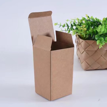 Recycled Brown Custom Kraft Paper Box for Cosmetic Packaging